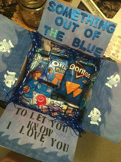 Just because   boyfriend gifts birthday   Pinterest   Care packages, Blue and The o'jays