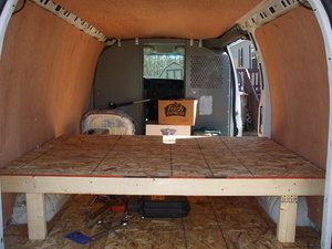 How To Build A Van Dwelling Installing The Sub Floor And Bed Platform