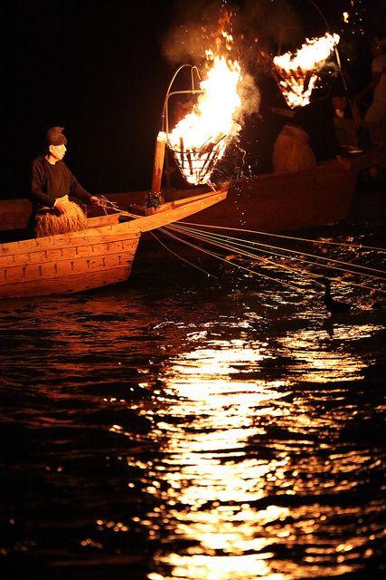 Cormorant Fishing on the Nagara River, Gifu, Japan
