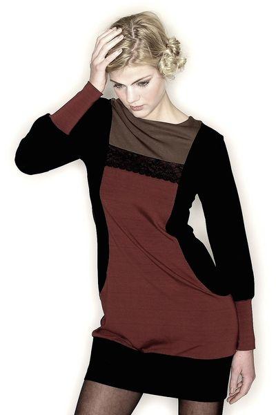 Longsleeves - Bequeme Long-Shirt Kleid - ein Designerstück von Berlinerfashion bei DaWanda