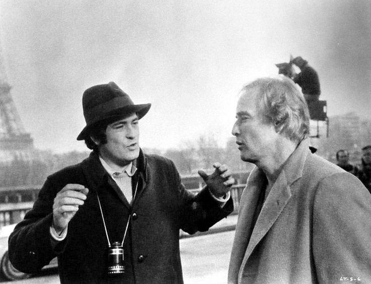 Bernardo Bertolucci with Marlon Brando - Last Tango in Paris