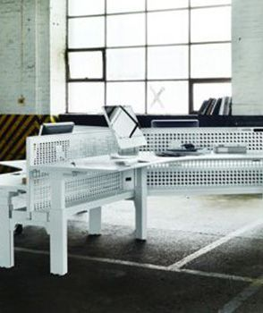 """Schiavello's range of Centric products meets the requirements of the GreenTagCert™ GreenRate Standard and operates a """"Product Stewardship Program"""" to take back workstations and tables at the end of service life for refurbishment or recycling."""