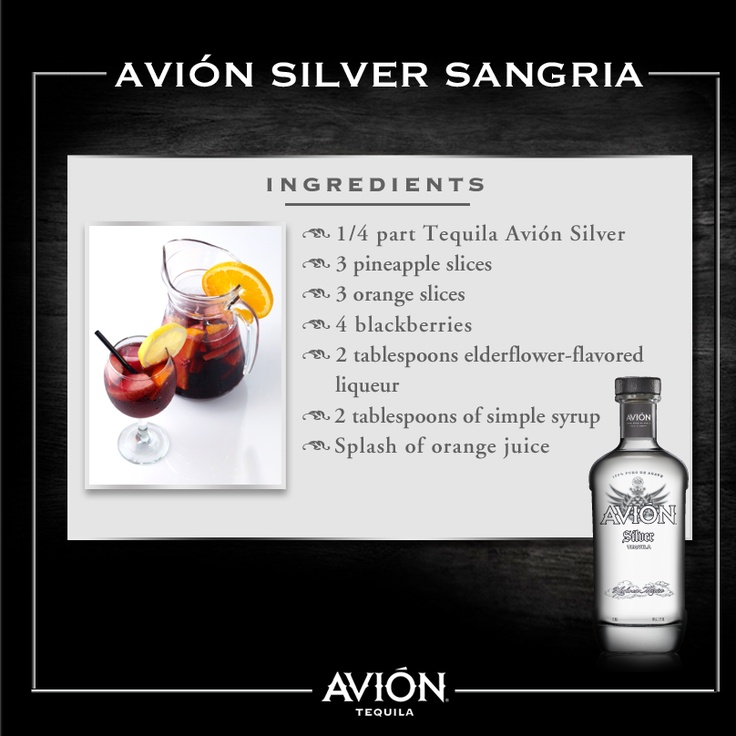 72 best images about mix pleasure on pinterest cocktails for Avion tequila drink recipes