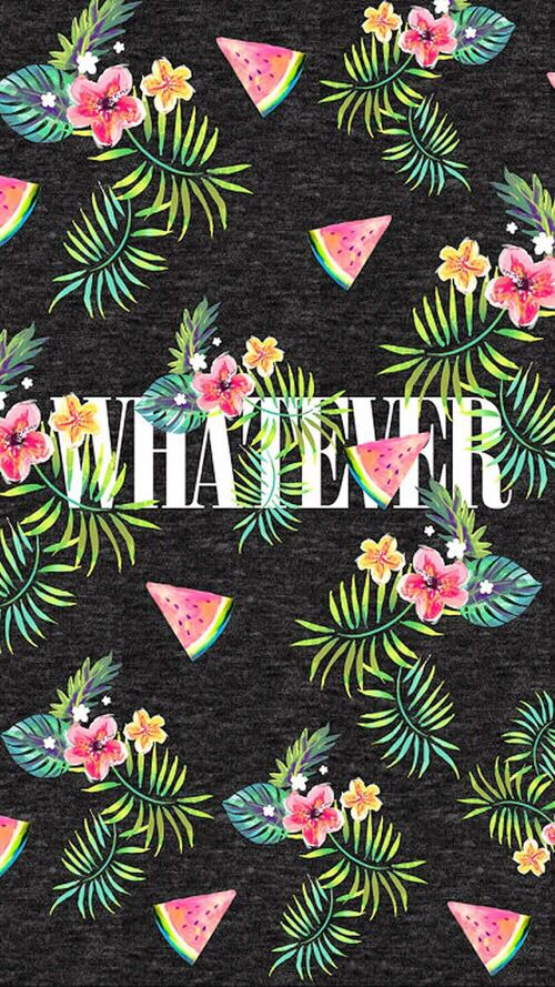 133 best girly wallpapers images on pinterest backgrounds phone whatever smartphone wall paper background pattern with watermelons and hawaiian flowers voltagebd Images