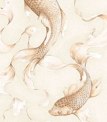 Koi Fish Wallpaper from Koi by Seabrook Wallcoverings. Priced by single roll and packaged double. Buy samples today! Arlington, TX