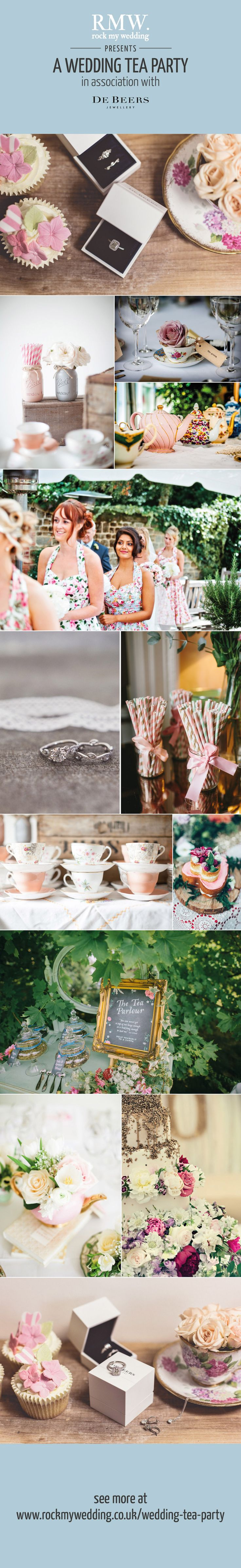 Afternoon Tea Wedding Inspiration by Rock My Wedding in association with De Beers | http://www.rockmywedding.co.uk/wedding-tea-party/