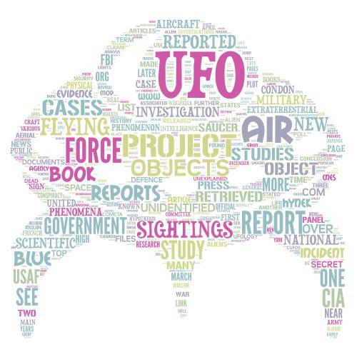 UFO word art
