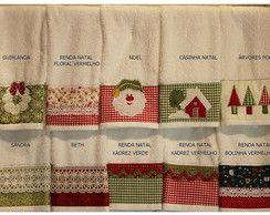 Toalhas de lavabo de Natal