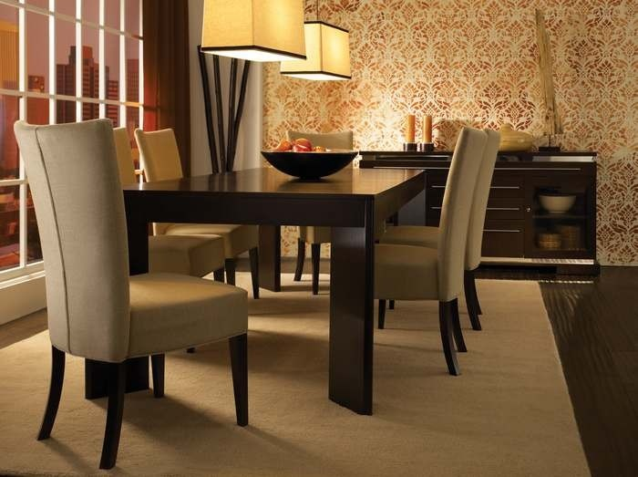 Superb High Style Set With Parsons Chairs By Canadel Furniture