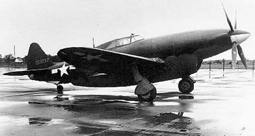 P-47 variant, testing the V 16 Chrysler engine with hemispheric chambers-Very ugly,very powerful,very fast, 501 mph.