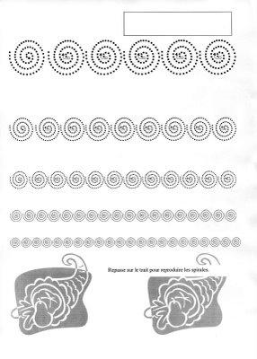 Maternelle: Graphisme , la spirale