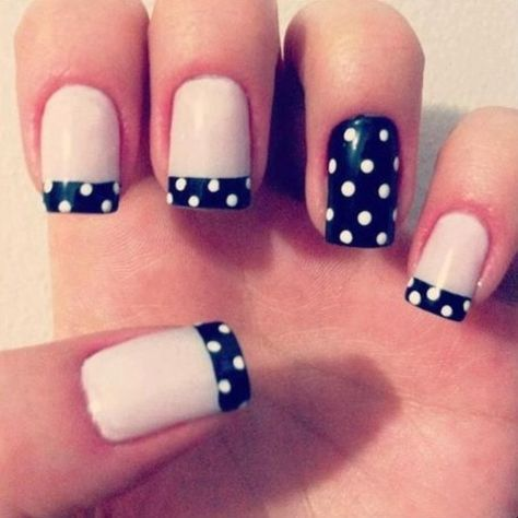 Last but not least, a lot of nail aficionados are incorporating gorgeous designs into their French manicures. You'll see tips decorated with polka dots, stripes, animal prints, and much more. You can choose to add a statement nail that uses the design as well, just to provide a little extra pop. As for the designs themselves, that's entirely up to you and the steadiness of your hands – unless you have a talented friend or a nail tech at your disposal, of course!