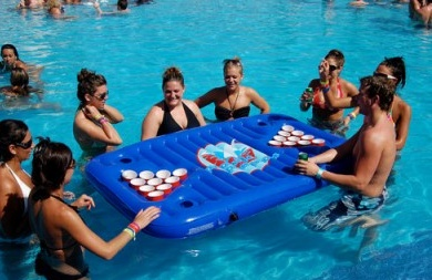 Beerpong for the pool? GENIOUS!!