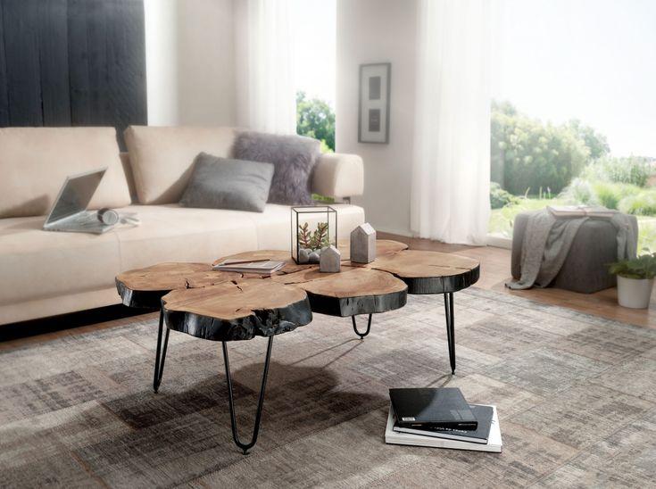 148 best Wohnling Akazie Massivholz Couchtische images on Pinterest - couchtisch aus massivholz 25 designs