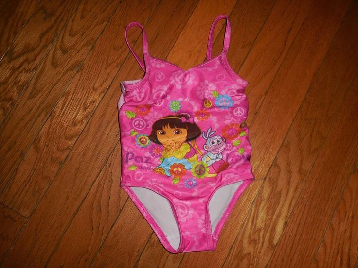 Nickelodeon  Girls size 18 months Dora and Boots Pink 1 pc Bathing suit  #nickelodeon #OnePiece