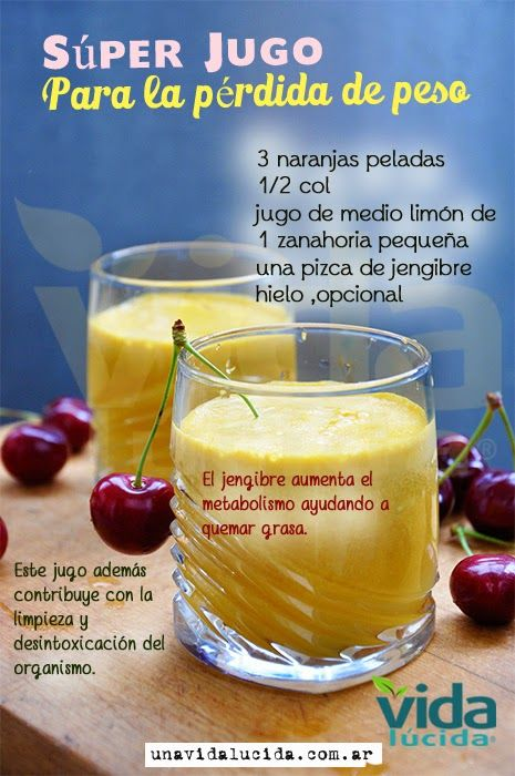Súper jugo para la pérdida de peso! www.lavidalucida.com