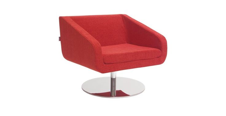 The Mares swivel #chair's low profile is ideal for any room where you need minimal visual obstruction from your #furniture. A favourite for spaces with floor-to-ceiling windows. There is additional flexibility as the upholstery is a single-piece #slipcover both in leather and #fabric allowing easy maintenance and #colour swaps. #Customizable to any upholstery.