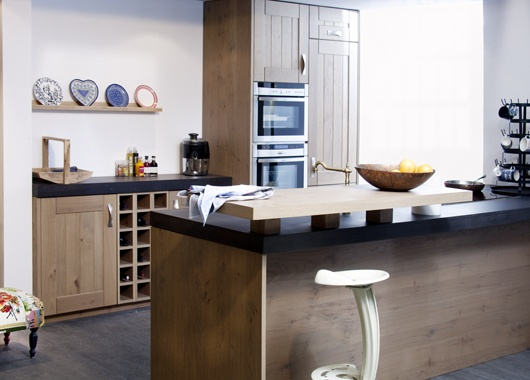 Keuken met frontjes in underlay wood ecosia