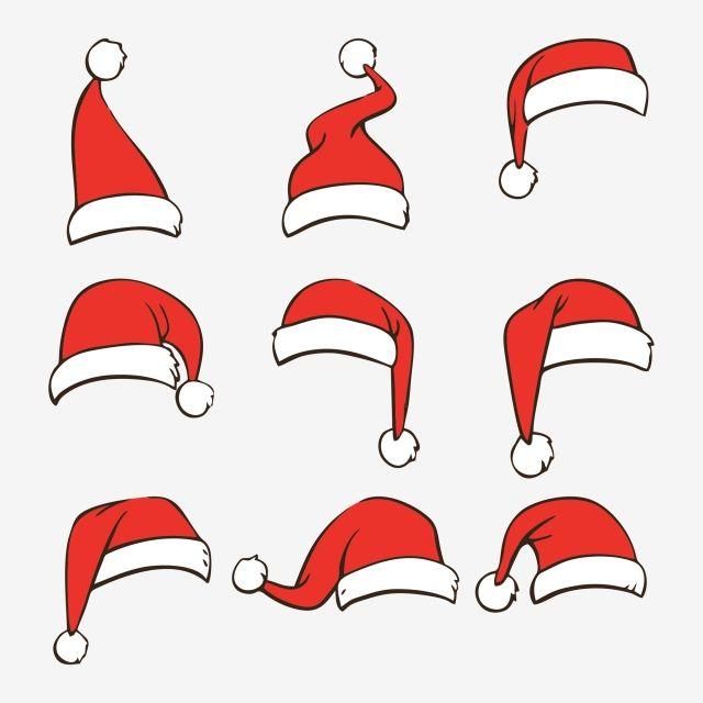 Der Rote Hut Sammlung Santa Hat Kawaii Christmas Santa Hat Clipart