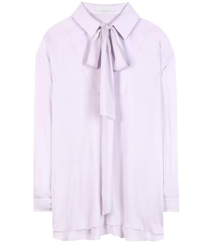 mytheresa.com -  Silk-blend blouse - Luxury Fashion for Women / Designer clothing, shoes, bags