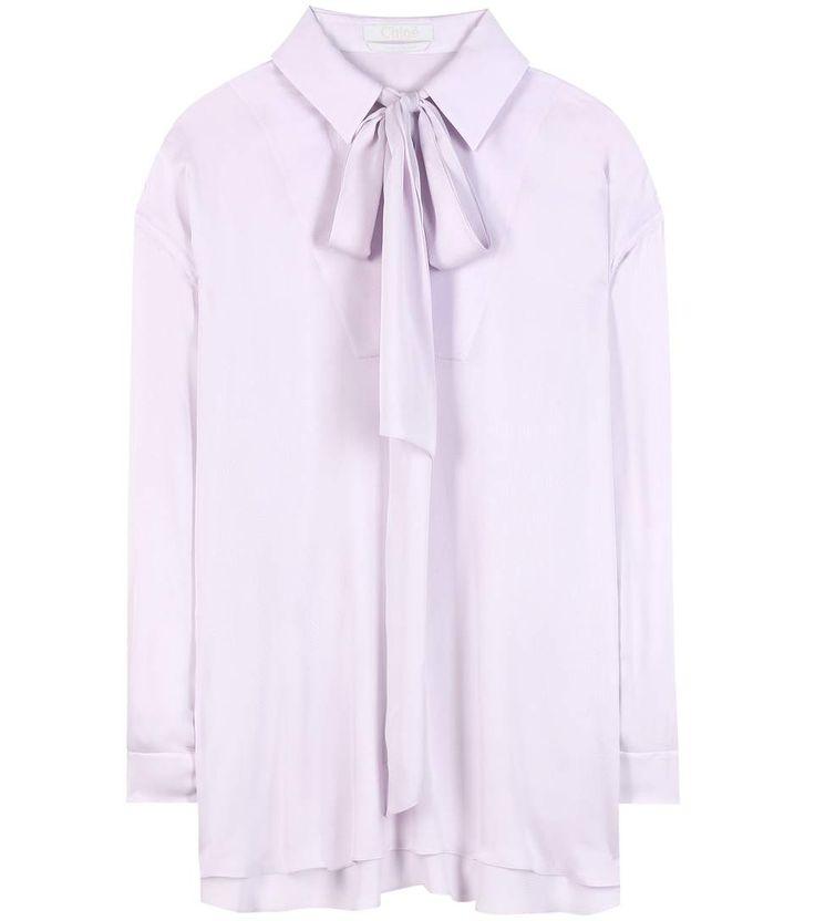 mytheresa.com -  Silk-blend blouse - Luxury Fashion for Women / Designer clothing, shoes, bags