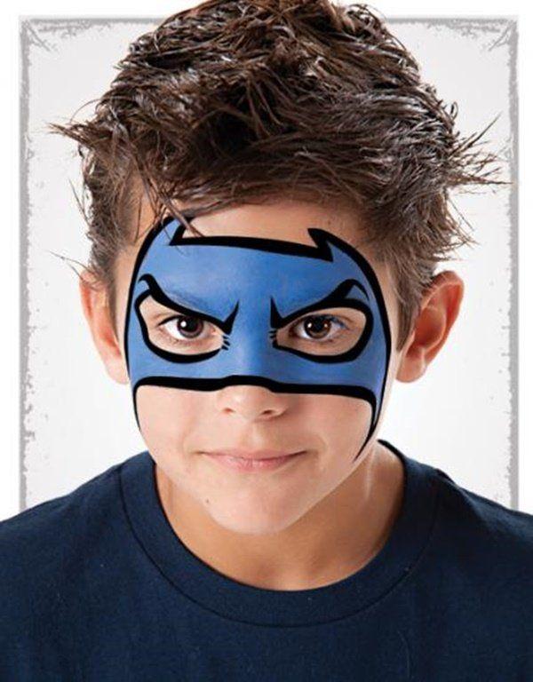 maquillaje de superheroe niños
