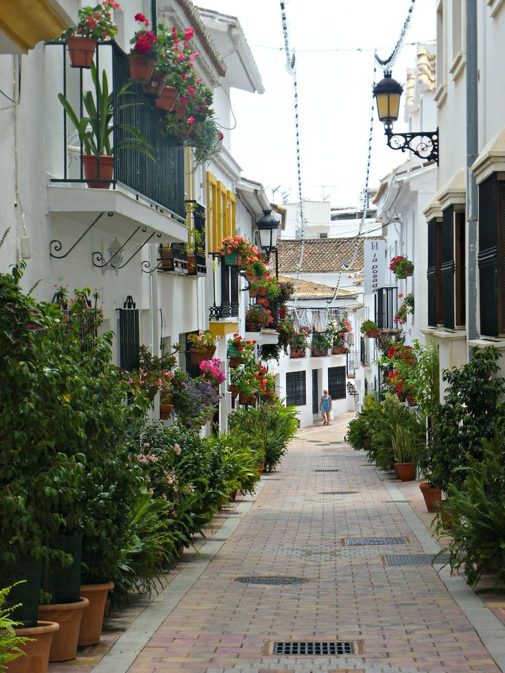 A street in Benalmadena Pueblo, Spain
