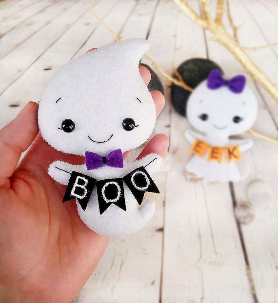 ghost halloween decorations felt toy halloween gift baby shower favors halloween party decorations trick or treat home decor halloween props