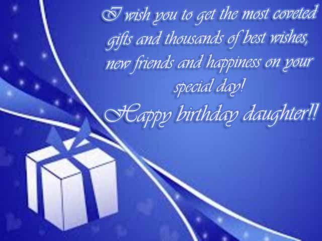 Daughter birthday wishes