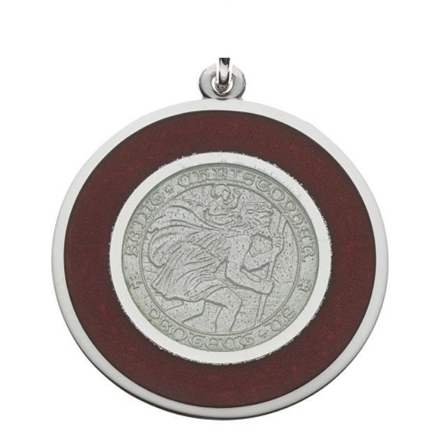 We've got a huge away game today! Are you wearing your Red and White (Badger) St. Christopher today? - #GoBucky #Badgers #Football #Holidays #Jewelry