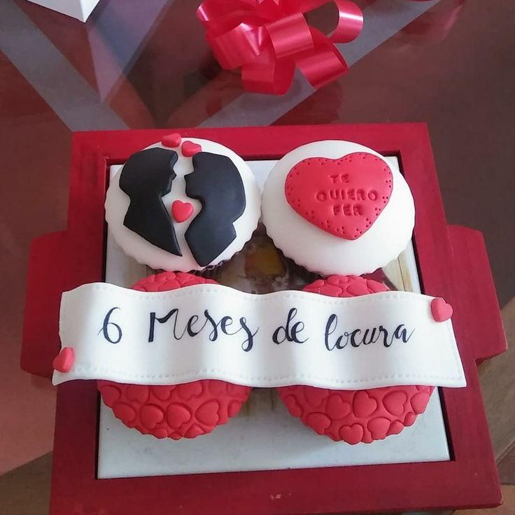 Cupcakes aniversario amor