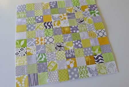 Stamp collection block tutorial - uses interface to make piecing faster.  From Oh, Fransson.