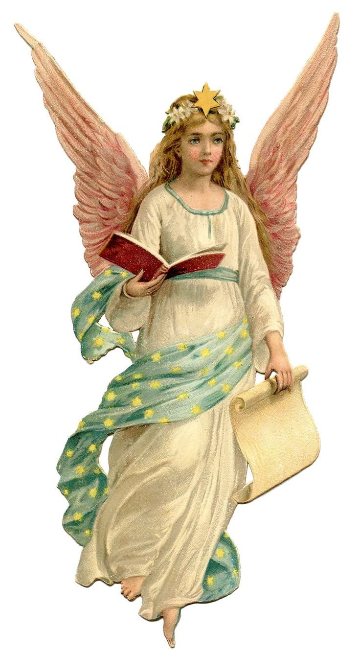 vintage christmas angel | Vintage Christmas Image - Beautiful Angel - The Graphics Fairy