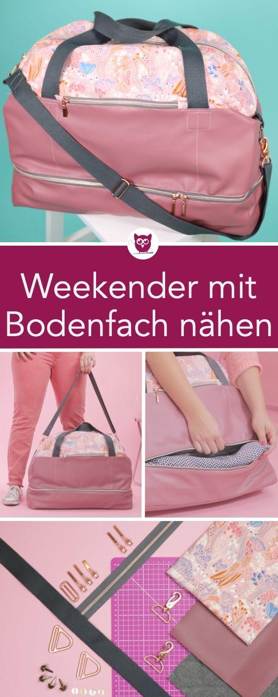 #WeekenderWiebke aus dem #DIYeuleBuch : Weekender mit Bodenfach nähen. Nähanle…