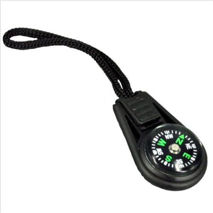 5 X Zipper Pull Mini Compass Zaino Strap Campeggio