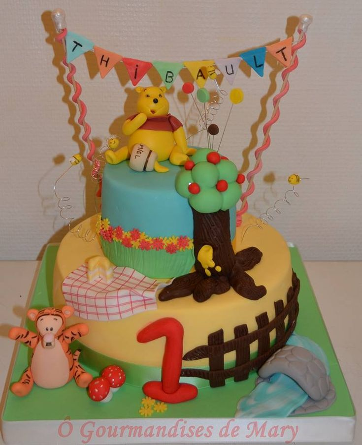 Le gâteau Winnie et Tigrou de Mary