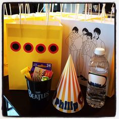 The Beatles Yellow Submarine birthday party favors
