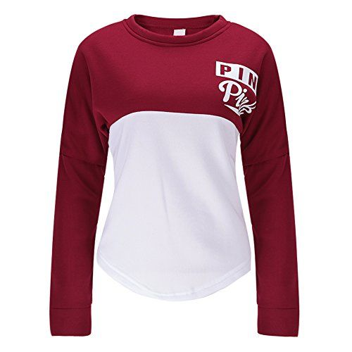West See Damen Sweatshirts Druck Langarm Hoodies Tshirts Tops Sport Pullover Casual (EU 34(Etikett M))