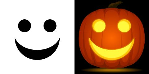Happy Face Pumpkin Stencil