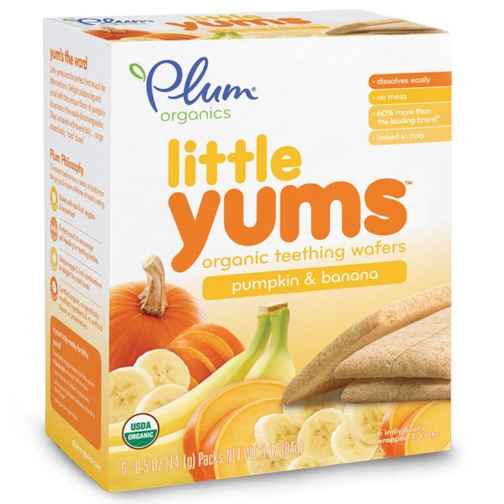 Plum Organics, Little Yums, Organic Teething Wafers, Pumpkin