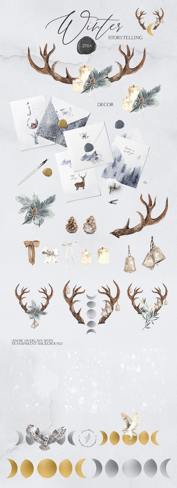 WINTER STORYTELLING Christmas set ~ Illustrations ~ Creative Market