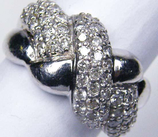 CERTIFIED 59 DIMAONDS SET IN PLATINUM RING SIZE 6 R1794 diamond ring , platinum  diamond ring