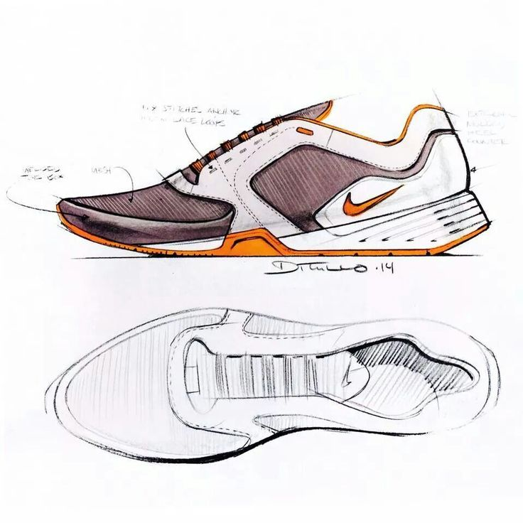 Sketches we like / Nike / Shoe / Pencil / Softgoods /