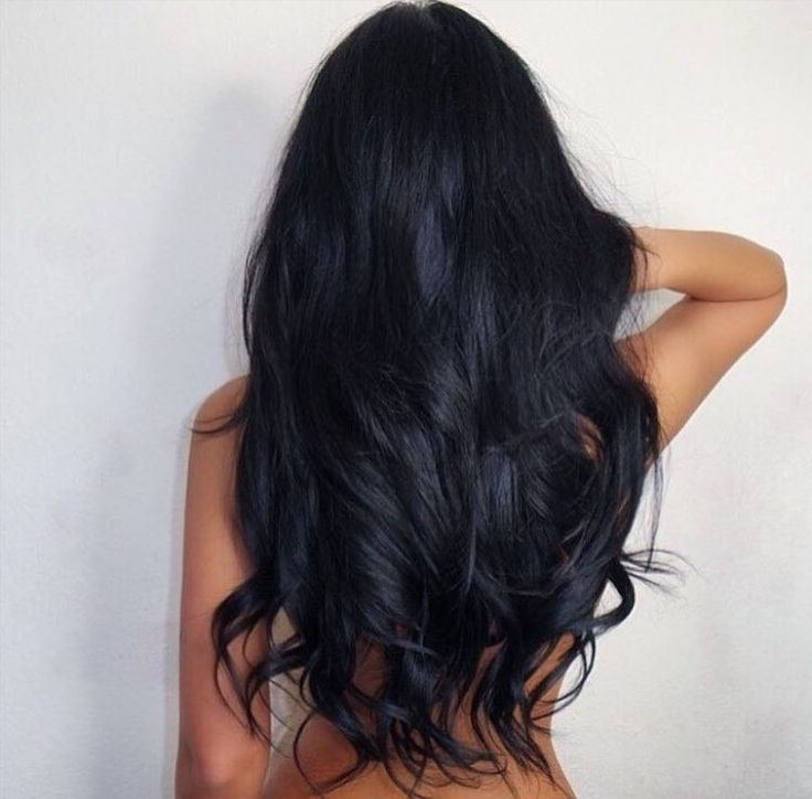 Длинные черные волосы картинка