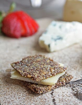 Low Carb Rosemary & Sea Salt Flax Crackers.  You'll never miss wheat thins again.  Gluten free