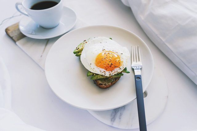 Here's to breakfast! Eggs are No. 3 on the list, and coffee is No. 1 with Americans using LIVESTRONG's MyPlate calorie tracker app.