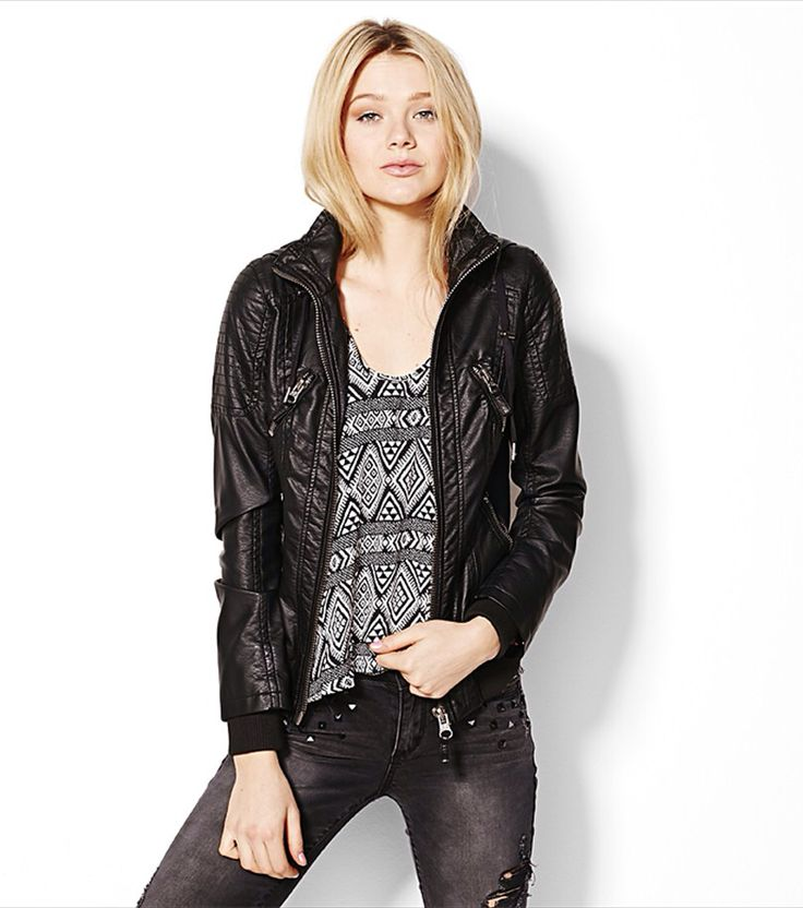Faux leather jacket from garage.