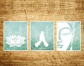 Artículos similares a Conjunto de Namaste 3 imprime Lotus, Namaste y Buda impresiones de arte, moderno Yoga diseño Zen, meditación moderna decoración, arte budista, Yoga Studio en Etsy
