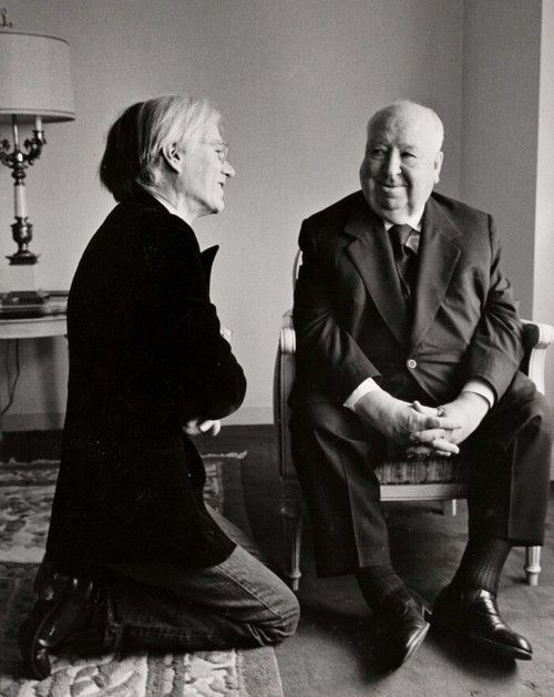 Warhol and Hitchcock.: Photos, Famous, Art, Alfredhitchcock, Alfred Hitchcock, Andywarhol, People, Andy Warhol, Photography