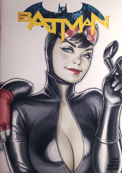 Catwoman Sketch Cover - Warren Louw